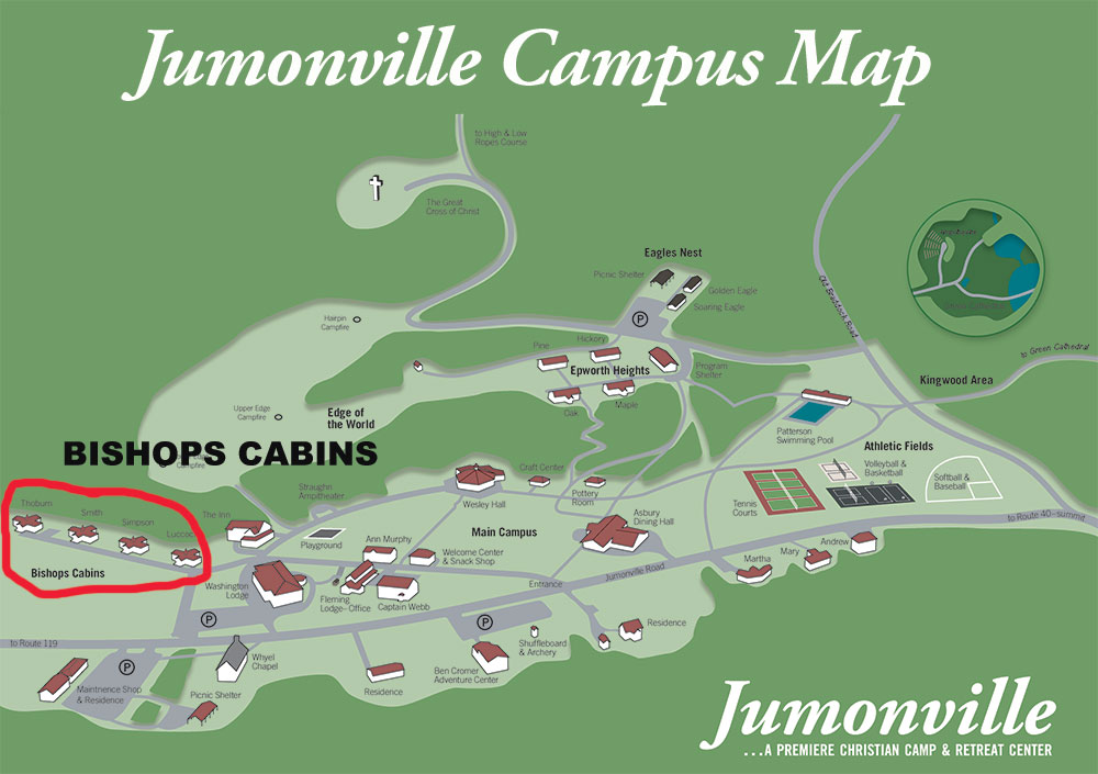 Bishops Cabins Campus Map