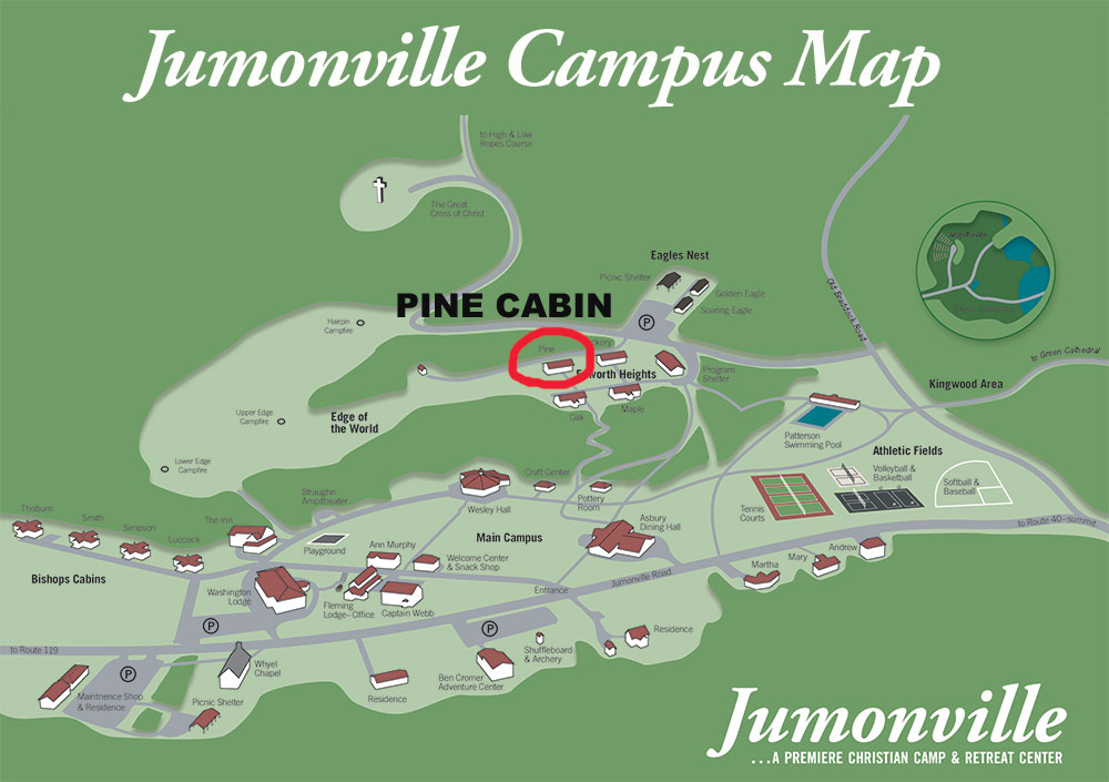 Pine Cabin Campus Map