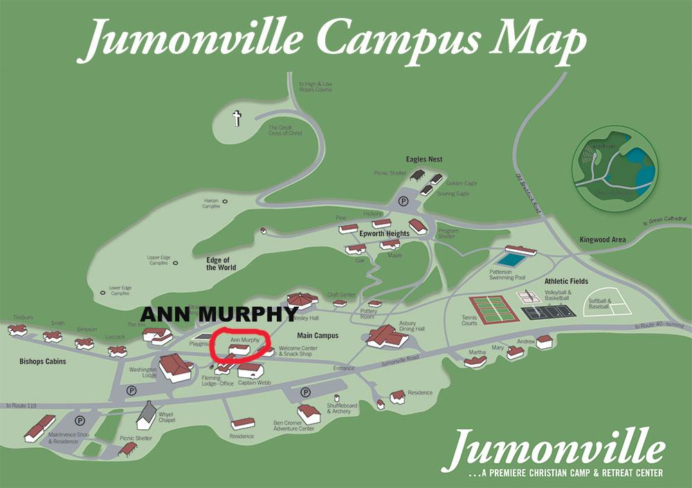 Ann Murphy Campus Map