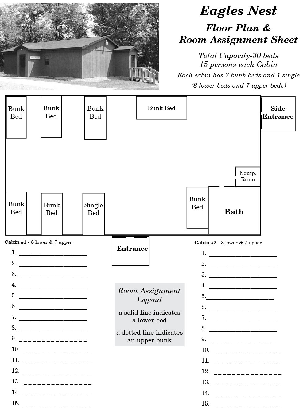 Eagle's Nest Cabin Floor Plans