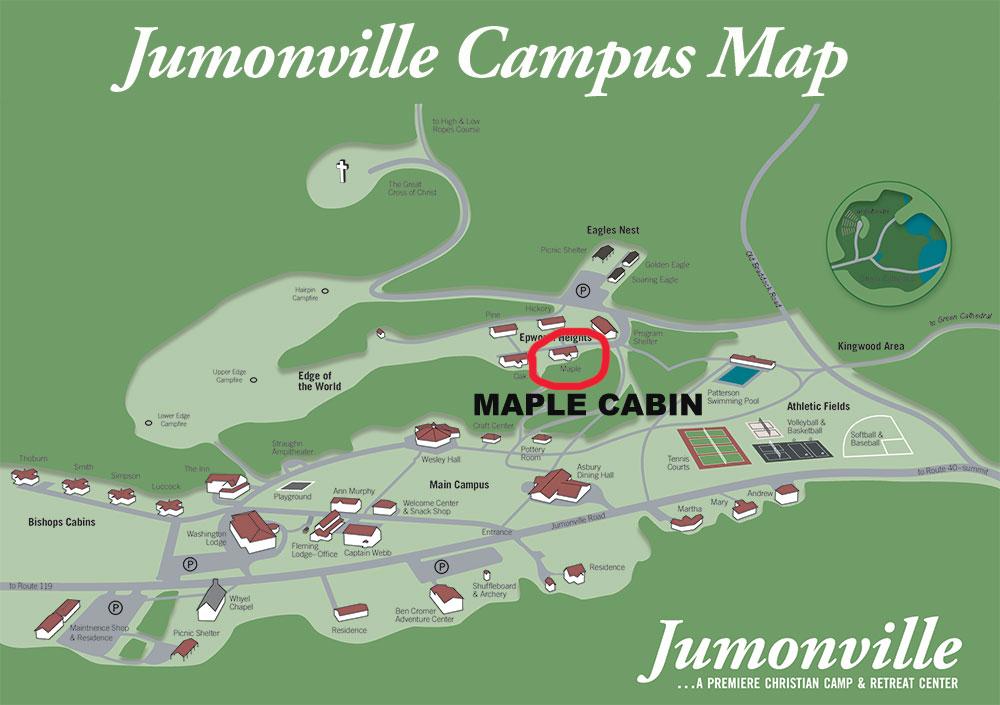 Maple Cabin Campus Map