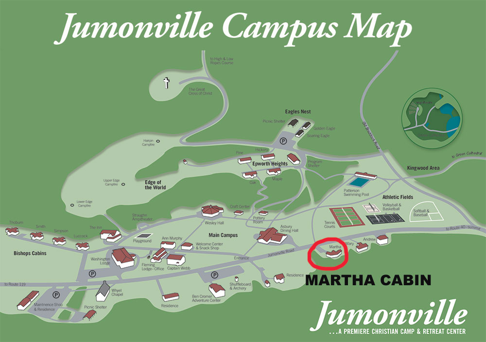 Martha Cabin Campus Map