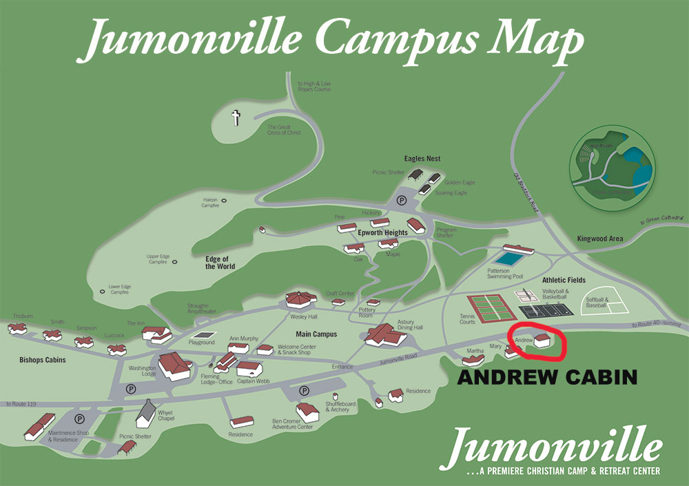 Andrew Cabin Campus Map