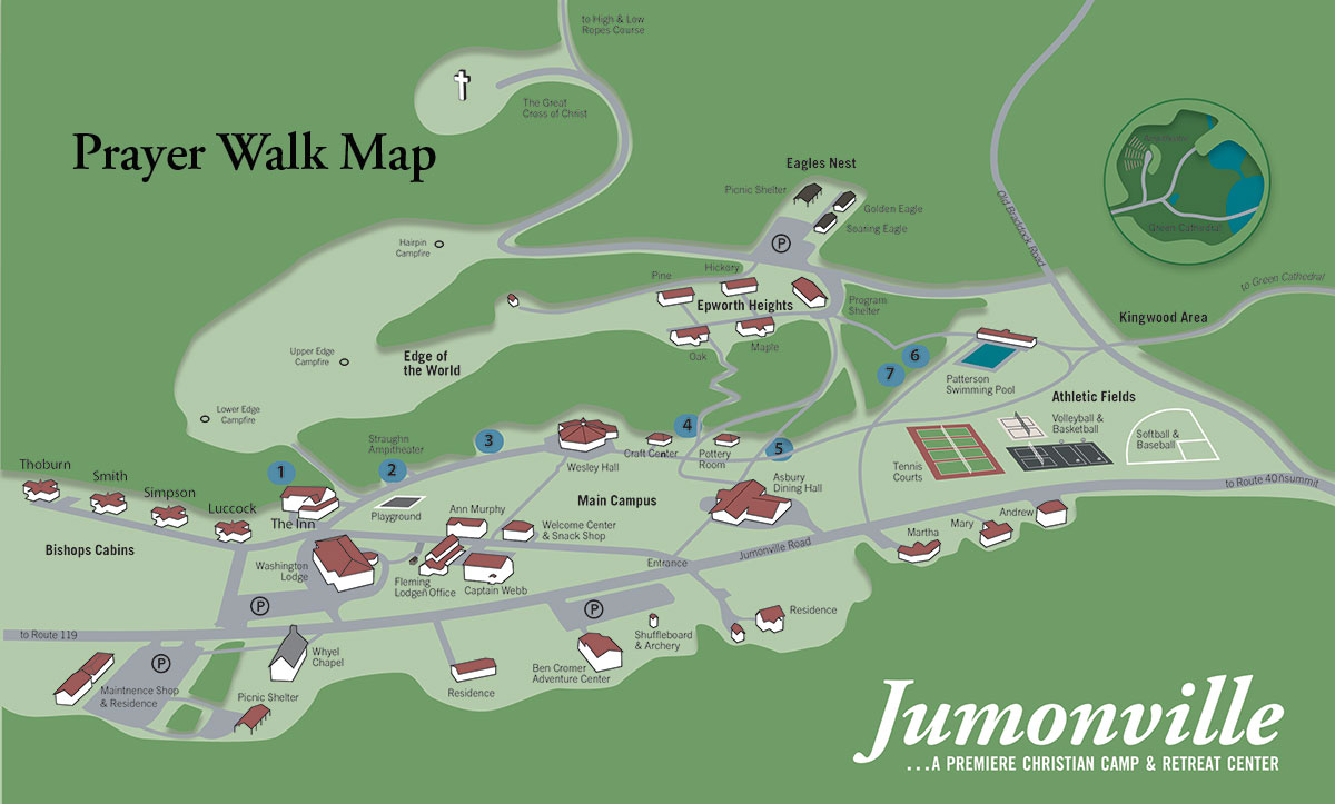 prayer walk map